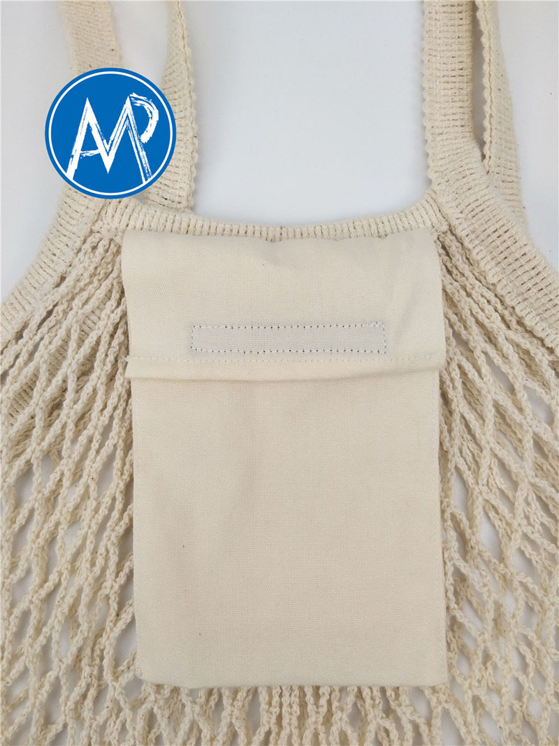 shopping mesh bag with pocket